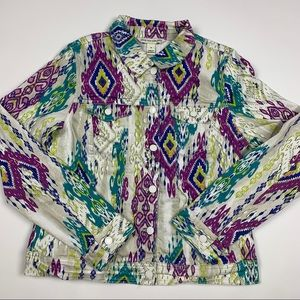 Vintage Johns New York Retro Aztec Western Jacket